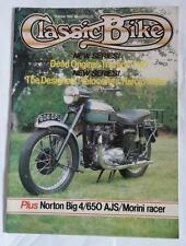 Classic Bike Magazine  October 1982  -  1956 650cc Triumph T110 Pin-up