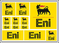 Eni decal set 12 quality printed and laminated motorcycle stickers