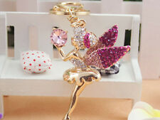 KC006 Angel Cute Rhinestone Crystal Charm Pendant Key Bag Chain Gift Fashion