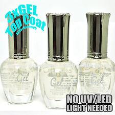 Kleancolor 3 Gel Effect Nail Polish 3 pcs GEL CLEAR TOP COAT Lacquer K-3xGELTOP