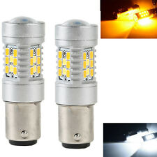 Lot 2 High Power 1157 Dual-Color Switchback 28-SMD LED Turn Signal Bulbs US Hot