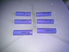 Lot of 6 SAMSUNG SDI ICR18650-28A 2.8Ah 3.7V Lithium-ion battery (Light Blue)