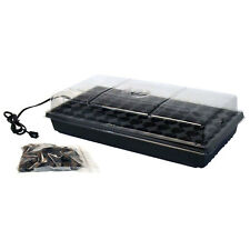 Seed Starter Kit with Heat Mat & Soil Germinate Tomato Herb Vegetable Flower