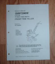 CRAFTSMAN 917.292200 TILLER OWNERS MANUAL WITH ILLUSTRATED PARTS LIST