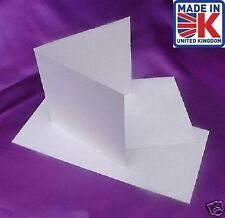 100 150mm SQUARE WHITE 300gsm INKJET CARD BLANKS+ENV