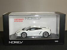 NOREV 760025 LAMBORGHINI GALLARDO LP560-4 WHITE DIECAST MODEL CAR