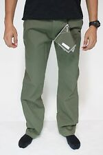 """New DC SHOES Mens Worker Roomy Fit Size 32"""" Chino Stretch Pants Olive Green BW1"""