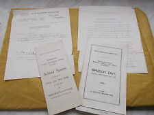 Collection of Paper Ephemera Of Nottingham Dated 1929 - Includes A Sports Prog.