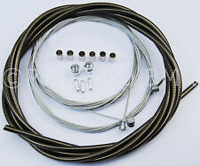 Bicycle 5mm LINED freestyle for ACS rotor brake cable kit old school BMX - SMOKE