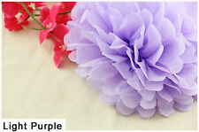 4 Inch Light Purple Tissue Paper Pom Poms Flower Ball For Wedding Birthday Party