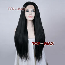 """24""""  Natural Black Women Girls Heat Resistant Hair Popular Lace Front Wig Gifts"""