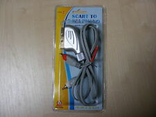 1M SCART A 2 RCA MASCHIO CAVO PHONO AUDIO VIDEO AV CAVO