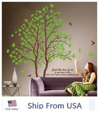 Twin Tree Removable Green Lover Vinyl Art Wall Decals Graphic For Home Decor USA