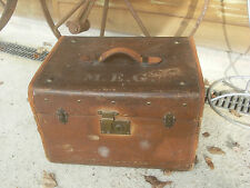 Liprosta Antique Hat Box, Trunk w/ Key & Tray