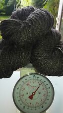 500 g Natural DARK GREY Pure Wool Chunky Aran Weight Skeins