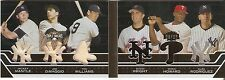 Mickey Mantle Joe DiMaggio Ted Williams  2008 Topps Triple Thrads Booklet  23/27