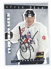 94-95 1994-95 BE A PLAYER GARY LEEMAN AUTOGRAPH AUTO 73 MONTREAL CANADIENS