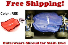 Traxxas Slash 2wd ESC Receiver Chassis Shroud by Outerwears 20-2591-03 RED