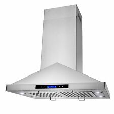 "30"" Island Mount Stainless Steel Kitchen RANGE HOOD VENT EXHAUST FAN"