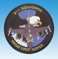 """Patch écusson Lockheed F-16 Fighting Falcon 311 Sqn """"Proud Viper Keeper"""""""