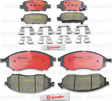 Front and Rear Disc Brake Pads Brembo for: Infiniti EX37 G37 EX35 G25 M35 FX35