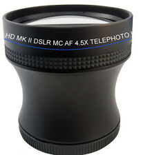 4.5X SUPER Telephoto HD Lens F Canon G10 G9 G7 SX1 SX10 SX20 SX30 SX40 SX40IS SX