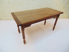 Dollhouse Miniature 1:12  Walnut Harvest Table - Artist Made Furniture