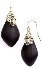 Alexis Bittar Lucite Gold / Black One Size Drop Earrings 22-92