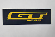 GT Bicycles Sticker 6 inch Navy Blue & Yellow