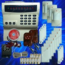 WIRELESS HOME SECURITY SYSTEM - LED BURGLAR FIRE ALARM HOUSE AUTO-DIALER NEW