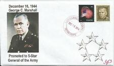VERY LAST 16 Dec 1944 George C. Marshall Made 5-Star General  #3of3 Cachet Cover