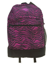 New DICKIES Black Purple Zebra Print Super Thick Heavy Duty Canvas Backpack