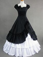 Short Sleeves Side Ruffled Halloween Lolita Fancy Dress Cosplay Costume Outfit