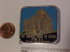 savings bank of utica ny enamel tape measure gold dome 72 inch vintage barlow