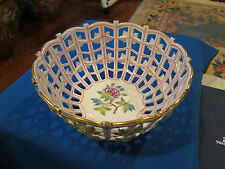 Herend Beautiful Open Weave Basket