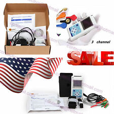 USA Stock,24 hours 3 Channel ECG ECG/EKG Holter Monitor System TLC9803,CONTEC,CE