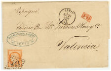 France Cover - Ceres - 1873 Cette to Valencia (SP)