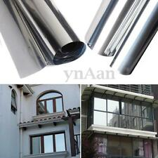 Silver Insulation Stickers Solar Reflective Window Film One Way Mirror 50cm x 2m