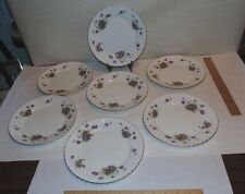 7 Salad Plates - Spring Violets pattern by Radfords - Bone China - used