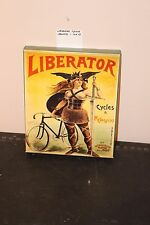 1800s Liberator Bicycle Ad 10x12 Canvas Gallery Wrap Art pedals spokes chains
