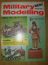 MILITARY MODELLING MAGAZINE MARCH 1971 NAPOLEONIC WAR GAME - SNOWCAT