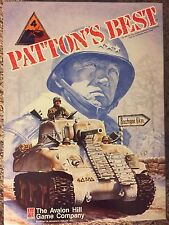 PATTON'S BEST Board Game by Avalon Hill VERIFIED COMPLETE Solitaire Tank Warfare