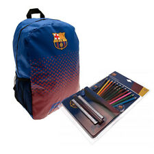 Back to School with Barcelona FC Backpack And Stationery Set