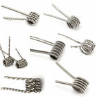 10pcs Quad/Flat Twisted/Clapton/Tiger/Hive/Mix Heating Wire Pre-made RDA Coil