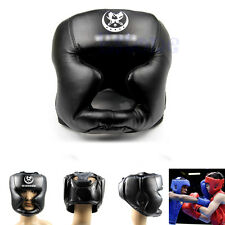 New Good Black Headgear Head Guard Trainning Helmet Kick Boxing Pretection Gear