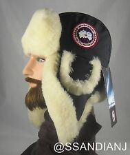 Canada Goose Shearling Pilot Hat 5188M Navy Size S/M Trapper Winter