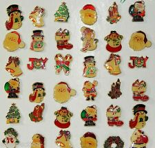 Wholesale 12pc Assorted Christmas New Vintage Style Enamel Glass Brooches Pins