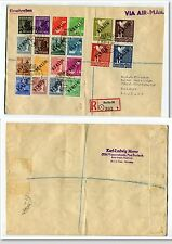 GERMANY BERLIN 1949 Black Overprint Set of 20 on Registered COVER cat EURO 17000