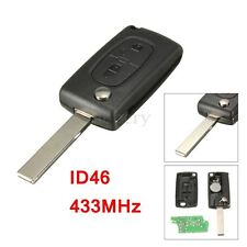Llave Remot Key ID46 433MHz transpondedor Mando Chip For Peugeot 207 307 308 407