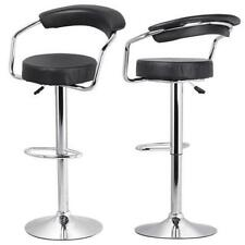 2 PCS Black Modern Adjustable Height Counter Swivel Pub Style Bar Stools /Chairs